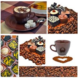 Пазл онлайн: Кофе и шоколад
