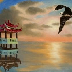 Пазл онлайн: Полёт над берегом