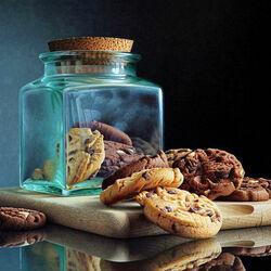 Пазл онлайн: Печенье с шоколадными чипсами