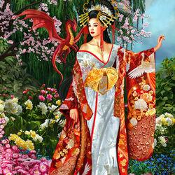 Пазл онлайн: Королева шелка