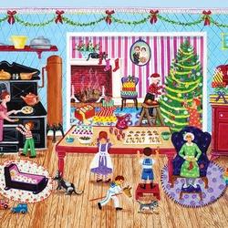 Пазл онлайн: Подготовка к Рождеству