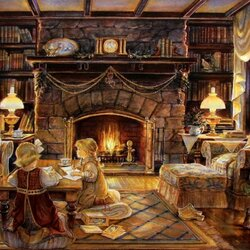 Пазл онлайн: Рождественская история