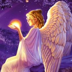 Пазл онлайн: Ангел со звездой