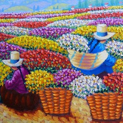 Пазл онлайн: Сбор цветов