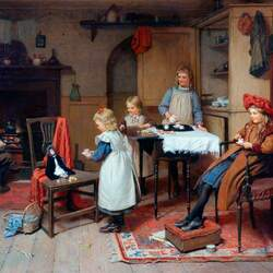 Пазл онлайн: Кукольное чаепитие