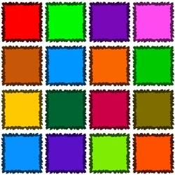 Пазл онлайн: Цветные квадраты