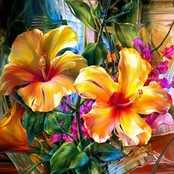 Пазл онлайн: Цветочный модерн
