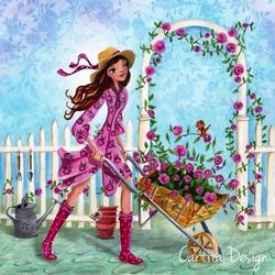 Пазл онлайн: Садовница