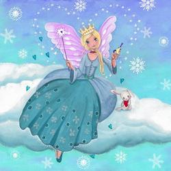 Пазл онлайн: Зимняя фея