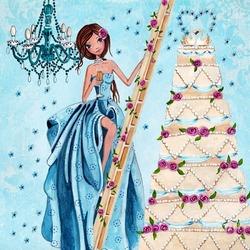 Пазл онлайн: Свадебный торт