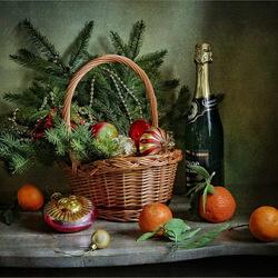Пазл онлайн: Новогодний натюрморт