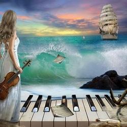 Пазл онлайн: Симфония моря