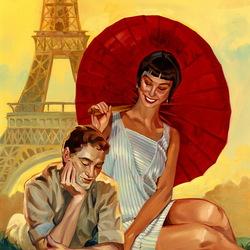 Пазл онлайн: Путешествие вдвоём.Париж