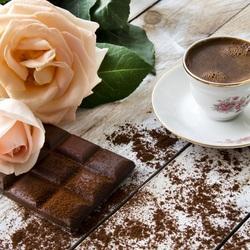 Пазл онлайн: Кофе с шоколадом