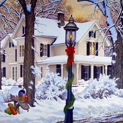 Пазл онлайн: Праздничный фонарь