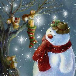 Пазл онлайн: Новогодняя ночь