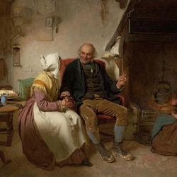 Пазл онлайн: Пожилая пара