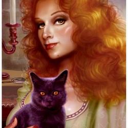 Пазл онлайн: Ведьма и кошка/The Witch And Cat