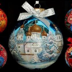 Пазл онлайн: Расписные шары