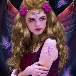 Пазл онлайн: Волшебные бабочки