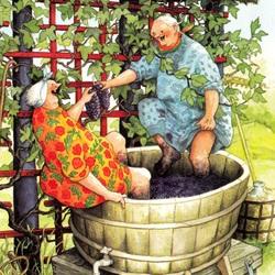 Пазл онлайн: Будет вкусное вино