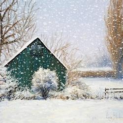 Пазл онлайн: Снег падает...