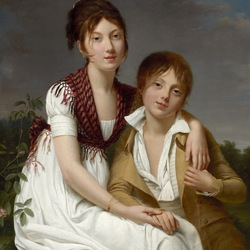 Пазл онлайн: Амелия-Жюстина и Шарль-Эдуард