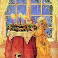 Пазл онлайн: Зажжем свечи