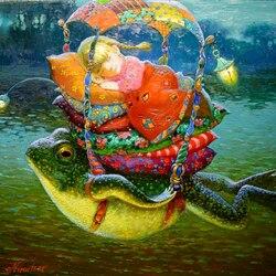 Пазл онлайн: Сон на лягушке