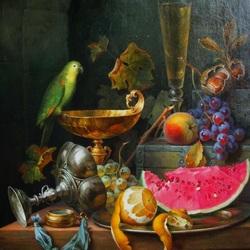 Пазл онлайн: Натюрморт с арбузом
