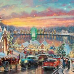 Пазл онлайн: Рождественские огоньки