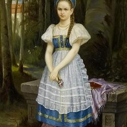 Пазл онлайн: Портрет дочери художника