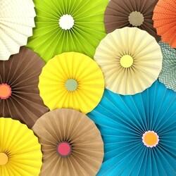 Пазл онлайн: Бумажные зонтики