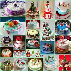 Пазл онлайн: Торты на новый год
