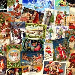 Пазл онлайн: Рождество. Винтаж
