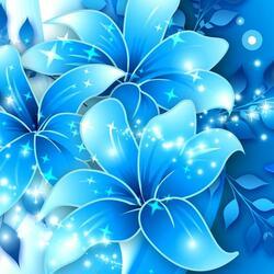 Пазл онлайн: Бабочка и лилии