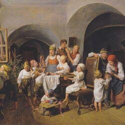 Пазл онлайн: Рождественское утро  (1844)