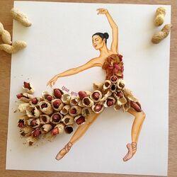 Пазл онлайн: Арахисовое платье
