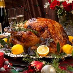 Пазл онлайн: Рождественский гусь