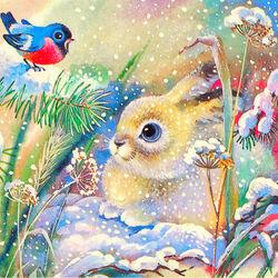Пазл онлайн: Белый заяц