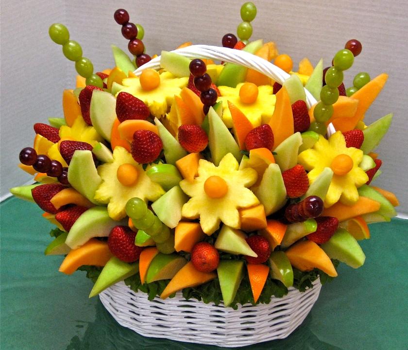 Корзины из фруктов своими руками