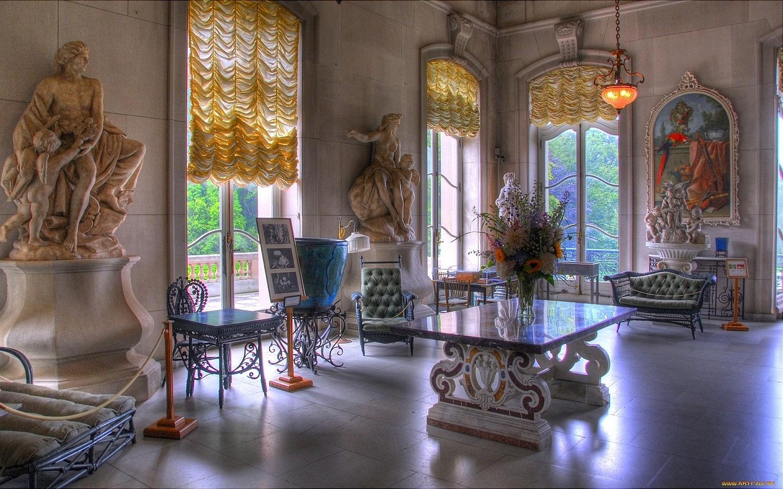 Обои для рабочего стола интерьер дворца