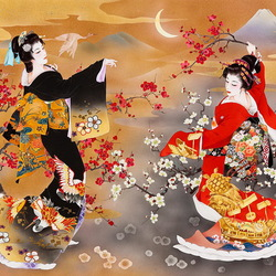 Пазл онлайн: Танец гейши