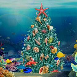 Пазл онлайн: Морское Рождество