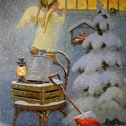 Пазл онлайн: Ангел на Рождество