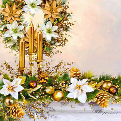 Пазл онлайн: Золотое Рождество