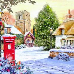 Пазл онлайн: Накануне Рождества