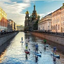 Пазл онлайн: Утро в Петербурге