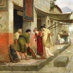 Пазл онлайн: Продажа ковров в Помпеях