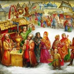 Пазл онлайн: Зимние гулянья